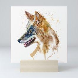 Coyote Head Mini Art Print