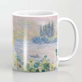 1881-Claude Monet-Flower Beds at Vétheuil-73 x 92 Coffee Mug