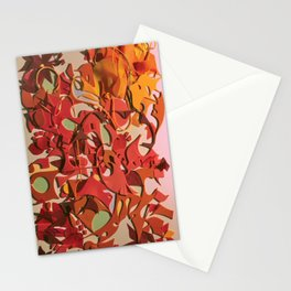 The Flowering Sun- Fantasy Abstract Collage  Stationery Cards