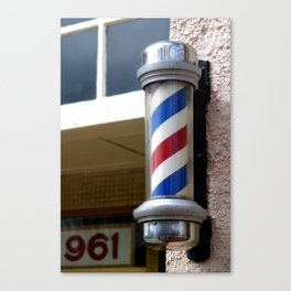 Barber Sign Canvas Print