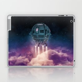 Out of the atmosphere / 3D render of spaceship rising above clouds Laptop & iPad Skin