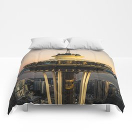 Space Needle (close-up) Comforters