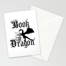 Book Dragon Stationery Cards