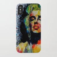 monroe iPhone & iPod Cases featuring Monroe by benjamin james