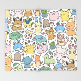 Kawaii Pokémon Throw Blanket