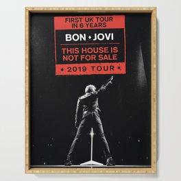 bon jovi this house not for sale uk tour 2019 putro Serving Tray