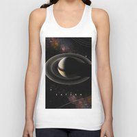 saturn Tank Tops featuring SATURN by Alexander Pohl