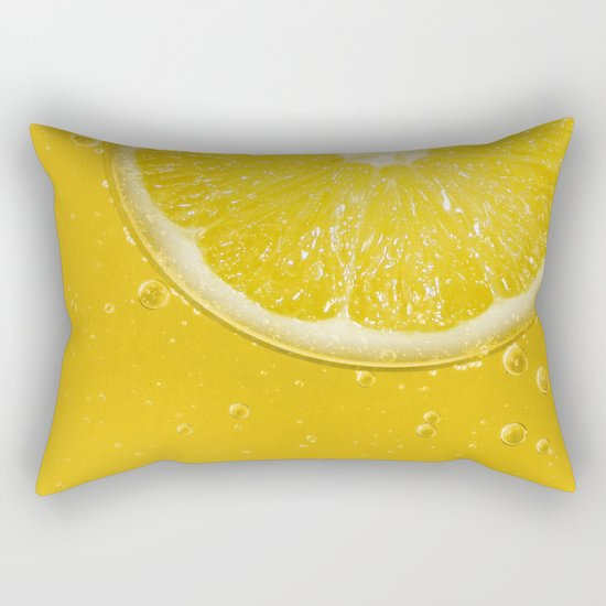 Lemon Thirst Quencher Rectangular Pillow