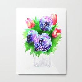 Flower Vase Metal Print