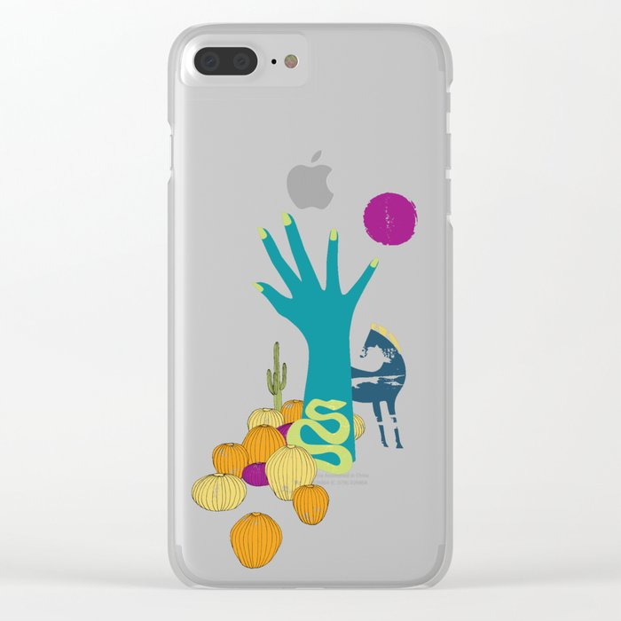 in the desert Clear iPhone Case