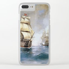 Aivasovsky Ivan - Brig Mercury Attacked By Two Turkish Ships 1892 Clear iPhone Case