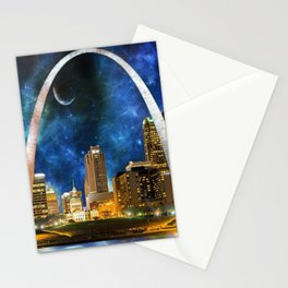 Spacey St. Louis Skyline Stationery Cards