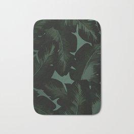 Dark Tropical Leaves Bath Mat