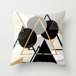 Deltamatic Throw Pillow