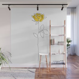 Lemon Rose Wall Mural