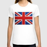 union jack T-shirts featuring Union Jack by MICHELLE MURPHY