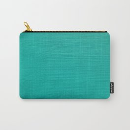 Teal painted wood Carry-All Pouch