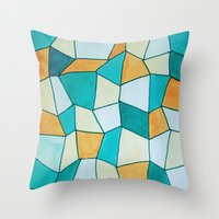 square Throw Pillows featuring Square by sinonelineman