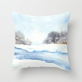 Mid-Winter Musing Throw Pillow