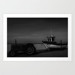 Boat by the Sea Art Print