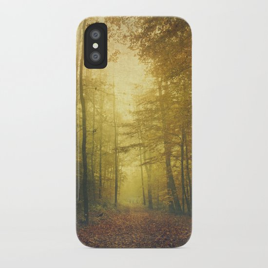 fall morning forest iPhone Case