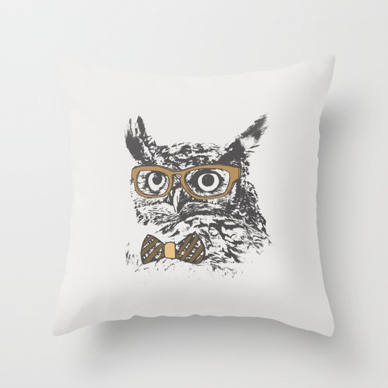 Hipsters are a Hoot Throw Pillow