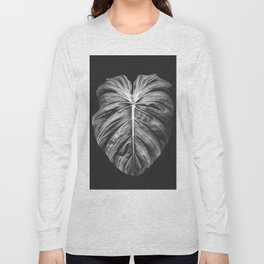 Monstera Deliciosa Black and White Long Sleeve T-shirt