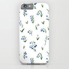 blue lily subtle pattern Slim Case iPhone 6s