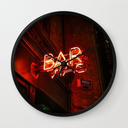 BAR (Color) Wall Clock