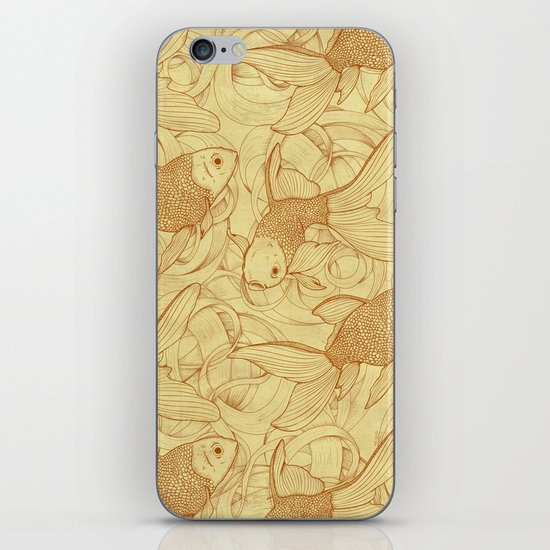 Vintage Goldfishes II iPhone & iPod Skin
