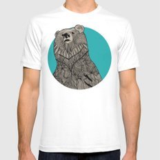 Beary Sketch MEDIUM Mens Fitted Tee White