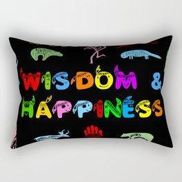 Wisdom and Happiness Rectangular Pillow