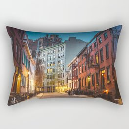Twilight Hour - West Village, New York City Rectangular Pillow