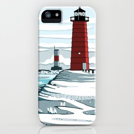 Winter Lighthouse iPhone Case
