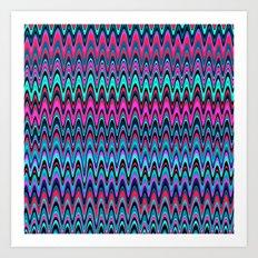 Making Waves Berry Smoothie Art Print