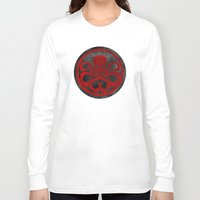 hydra Long Sleeve T-shirts featuring Captain Hydra by Some_Designs