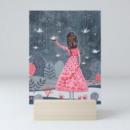 Paper cranes & koi Mini Art Print