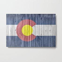 Colorado State Flag Barn Wall Gifts Metal Print
