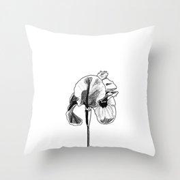 Desert Iris Throw Pillow