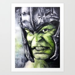 SMASH: The Hulk Art Print