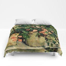 "Paul Cezanne ""Quiet life with Petunien"" Comforters"