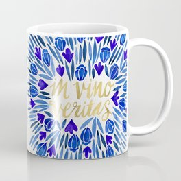In Wine, There is Truth – Navy & Gold Coffee Mug