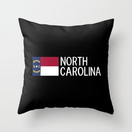 North Carolina: North Carolinian Flag Throw Pillow