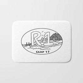 R1 Camp Logo 2017 Bath Mat
