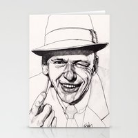 frank sinatra Stationery Cards featuring Frank by Paul Nelson-Esch Art