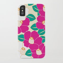 Japanese Style Camellia - Pink and White iPhone Case