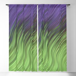 stripes wave pattern 2 with lines vcli Blackout Curtain