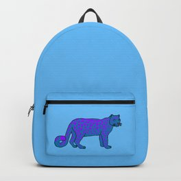 The curious snow leopard Backpack