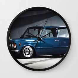 1972 Italian Sport 125 P Special in Blue Wall Clock