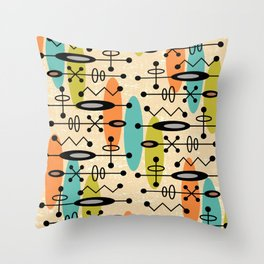 Mid Century Modern Radioactive Surfer 271 Throw Pillow
